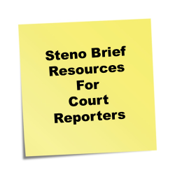 Steno Brief Resources for Court Reporters
