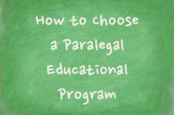 how to choose a paralegal educational program